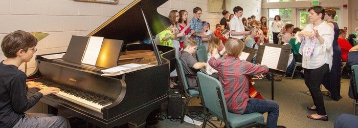 children in the choir